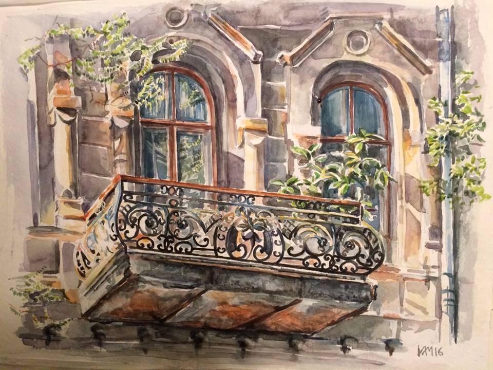 Балкон на улице Темерницкой