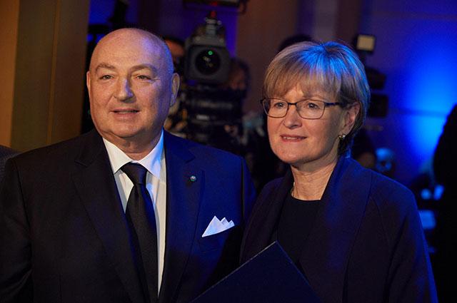 Президент Европейского еврейского конгресса Вячеслав Моше Кантор и М.Макгиннесс