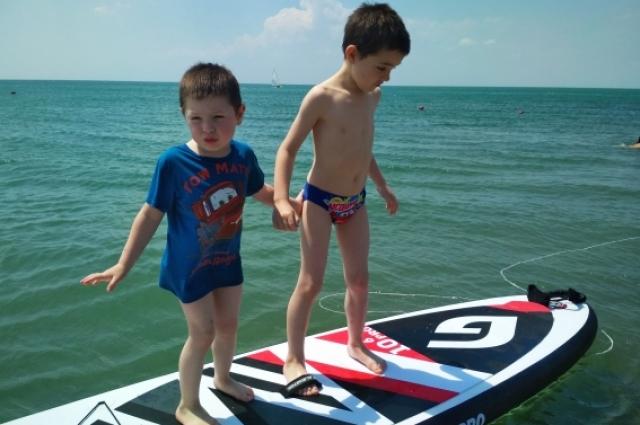 Сап-сёрфинг.
