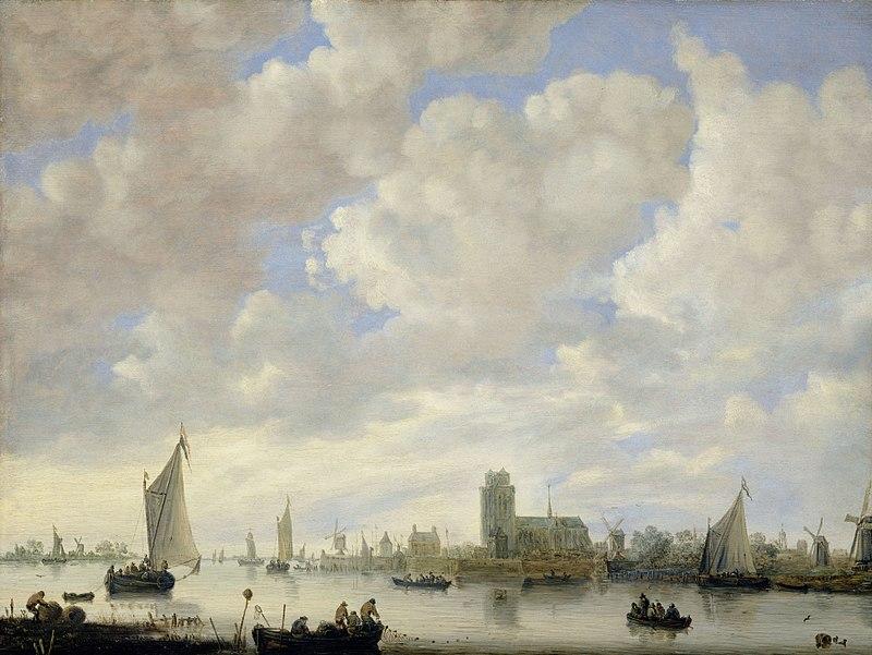 Ян ван Гойен. Вид на Мерведе под Дордрехтом.