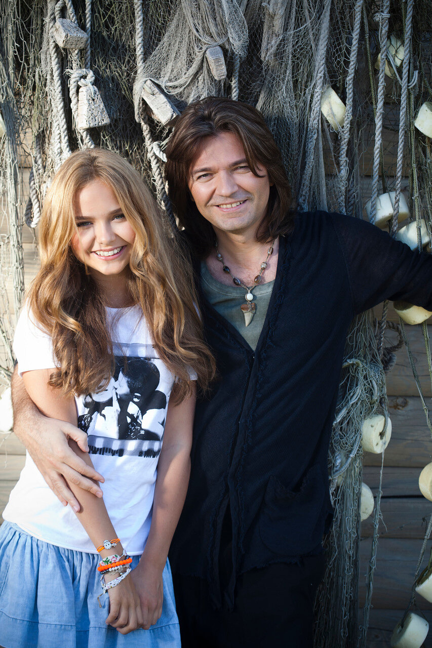 Дмитрий Маликов с дочкой Стефанией.