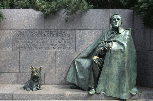 Мемориал Рузвельта в Вашингтоне.