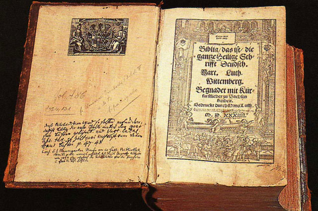 Библия Лютера. 1534 г.