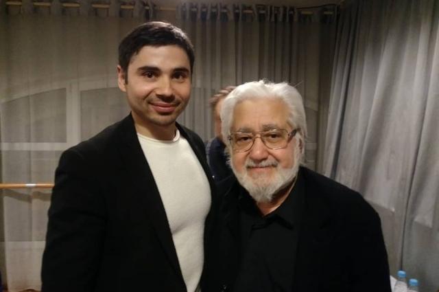 С Л.А.Додиным, художественным руководителем Санкт-Петербургского академического Малого драматического театра.