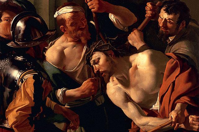 Христос с терновым венцом. Дирк ван Бабурен. 1622–1623