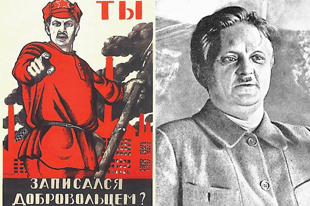 Дмитрий Моор срисовывал красноармейца с себя.