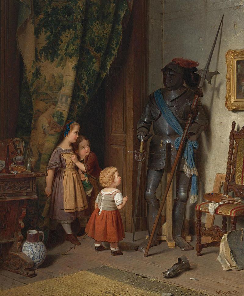 Август Фридрих Зигерт. Дети в мастерской художника.