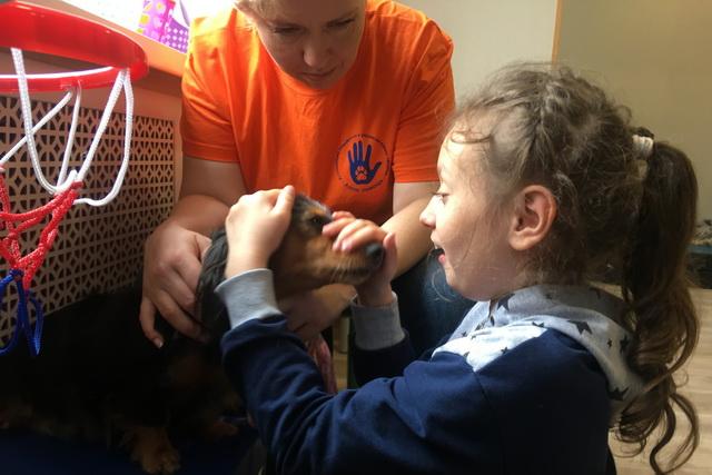 Канистерапевты работают с детским церебральным параличом и аутизмом.
