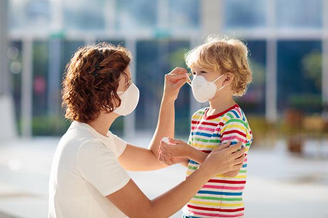 Коронавирус, ребенок, маска