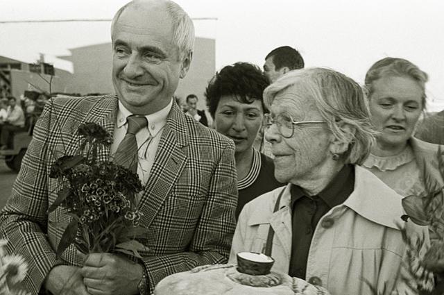 Марк Захаров и Татьяна Пельтцер. 1986 год