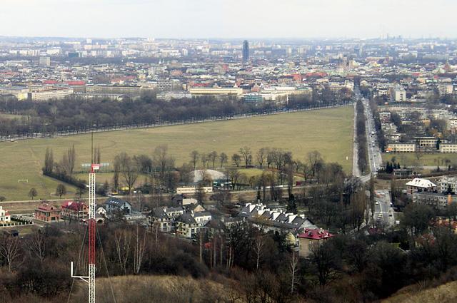 Вид на Краковский луг с кургана Костюшко (правая часть)