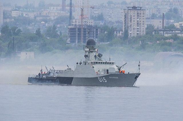 Корабли Каспийской флотилии в Волгограде