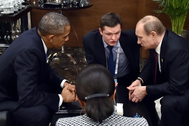С Бараком Обамой Владимир Путин говорил один на один, не считая переводчиков.