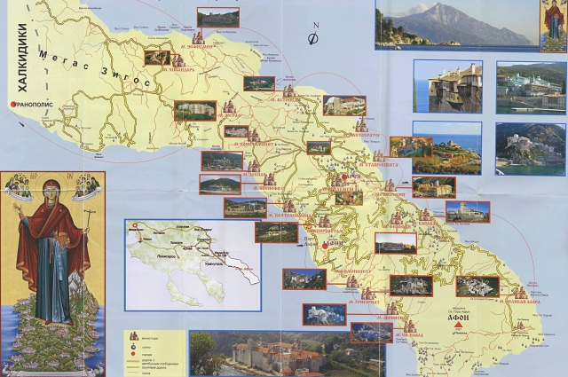 Карта монастырей, которую могут увидеть посетители выставки