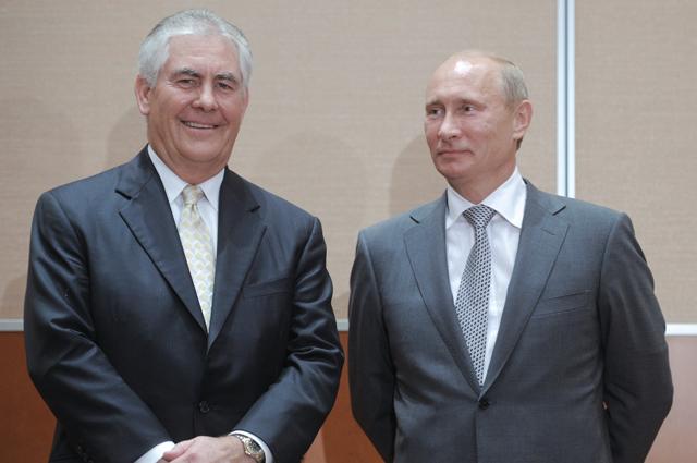 Рекс Тиллерсон и Владимир Путин.