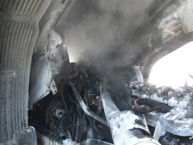 пожар, автомобиль, Костомукша