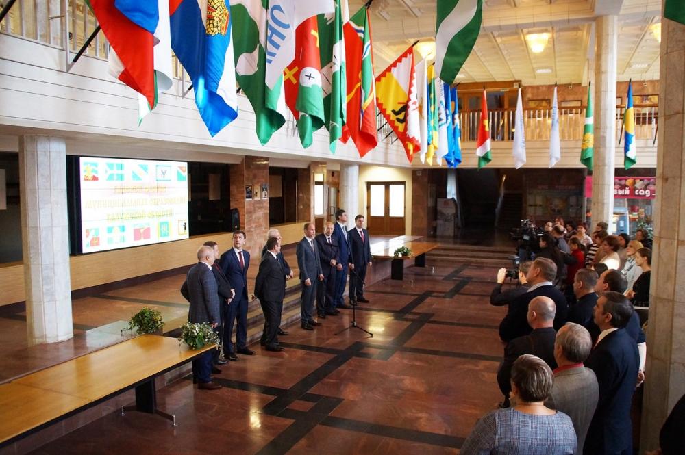 Открытие галереи флагов Калужской области