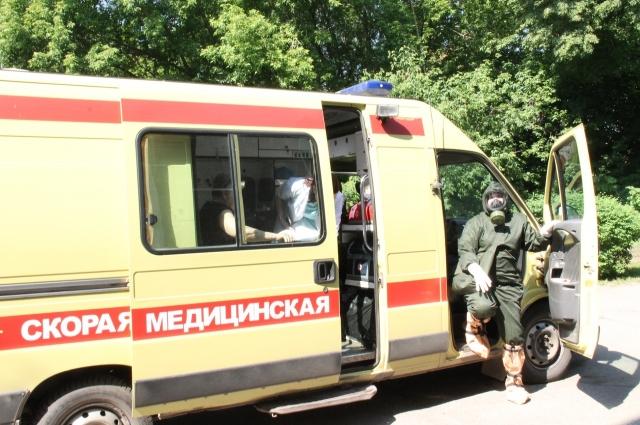 В учениях были задействованы эвакуационные бригады