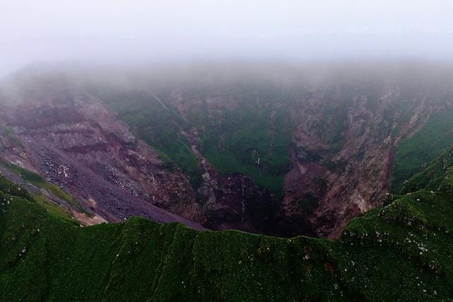Курильский остров Ракоке до извержения.