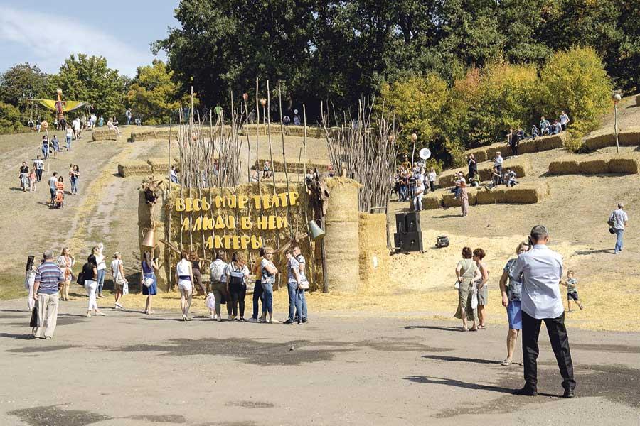 Традиционно одну из интереснейших композиций представил  Ломовской парк.