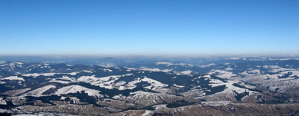 Карпаты, Закарпатская область, вид с горы Гымба
