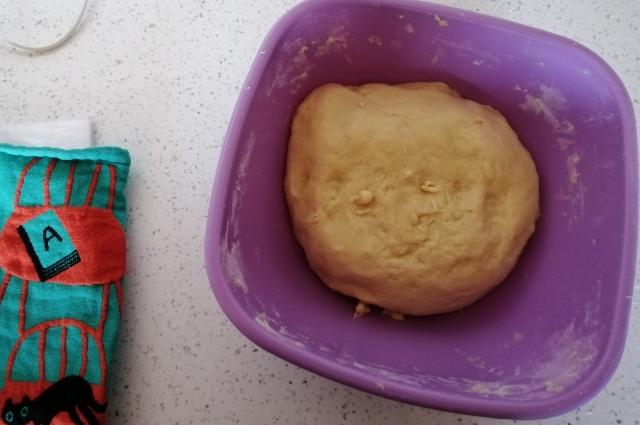 Бало такое тесто сразу после замешивания...