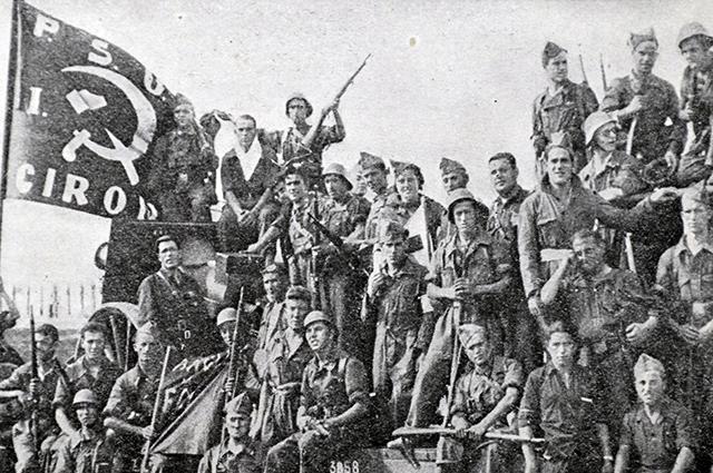 Республиканцы-коммунисты во время гражданской войны. Жирона, Испания
