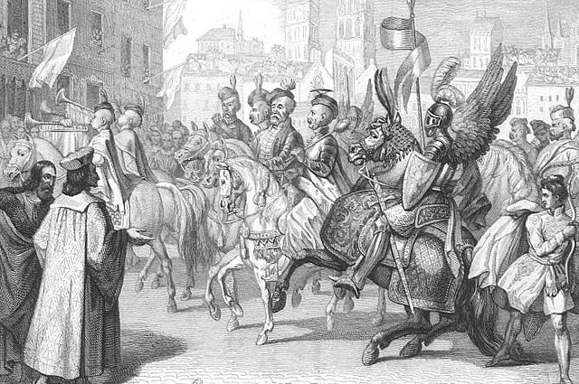 Прибытие польских послов в Париж для объявления Генриха Валуа королём Польши
