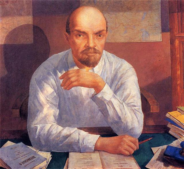 Картина «Портрет В.И. Ленина». Кузьма Петров-Водкин