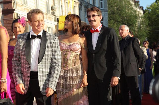 Георгий Делиев и Борис Барский на церемонии открытия Одесского международного кинофестиваля. 2012 год