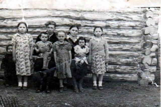 Семьи до войны были большими.