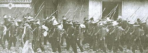 Солдаты времён гражданской войны в Колумбии. 1900 год