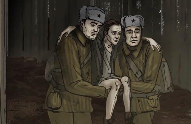 """«Два красноармейца сплетают руки, делают """"стульчик"""" и, усадив меня, несут...». Дневник Маши Рольникайте, 1945 год"""