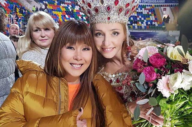 Анита с Татьяной Навкой.