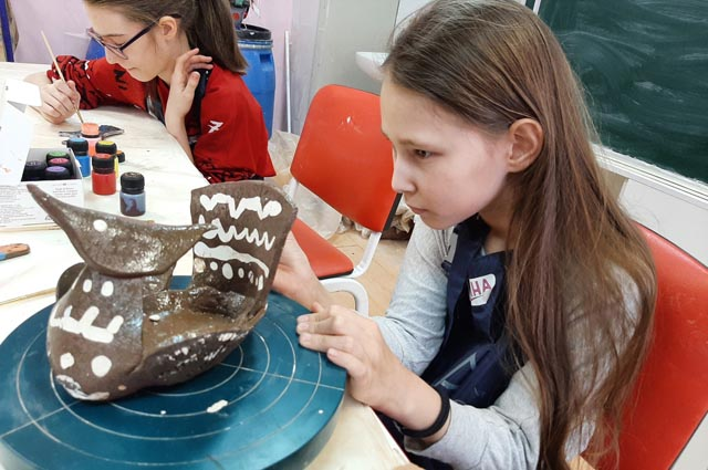 В проекте «Арт-Олимп» дети занимались и керамикой