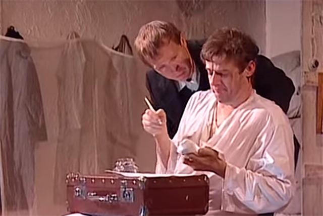 Сцена из спектакля Господа Головлёвы