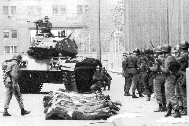 Военный переворот в Чили.