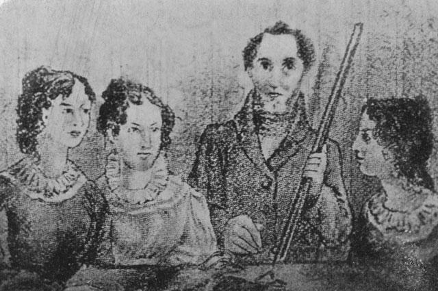 Семейный портрет - Шарлотта, Эмили, Бренуэлл и Энн