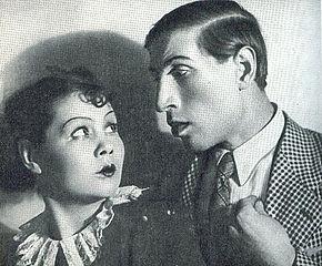 Сергей Филиппов в спектакле Ленинградского театра комедии «Страшный суд», 1939 год.
