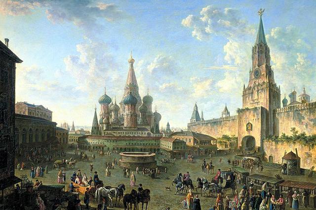 Красная площадь в Москве. Фёдор Алексеев, 1801.