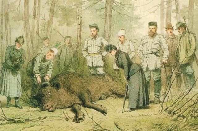 Александр II любил полакомиться приготовленной на углях добычей.