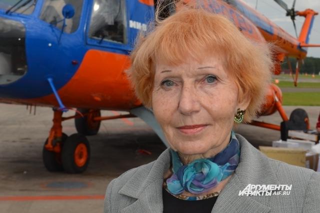 Авелина Максимовна побывала на месте аварии самолета отца.