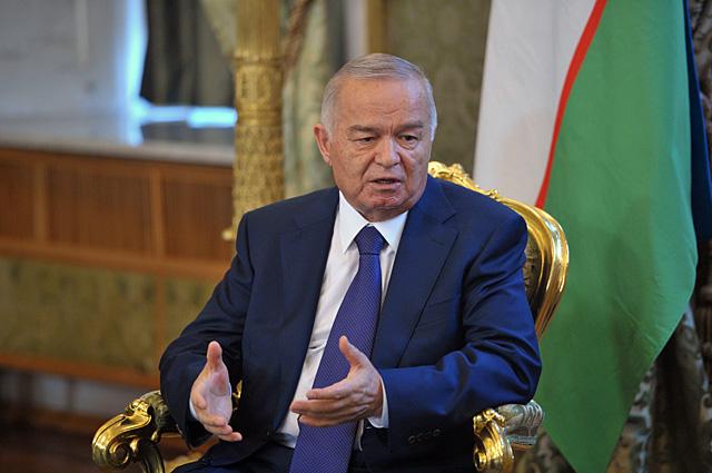 Президент Узбекистана Ислам Каримов во время встречи с президентом РФ Владимиром Путиным в Кремле.