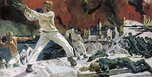 А. Дайнека «Оборона Севастополя». 1942 год.