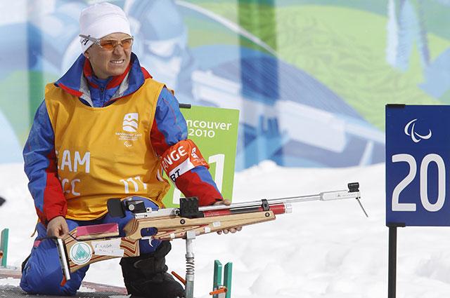Ирина Громова Паралимпийских играх в Ванкувере.