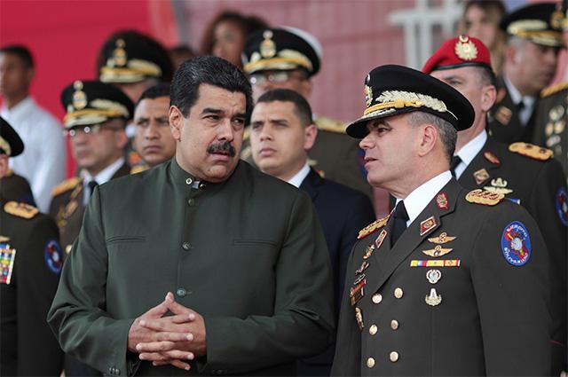 Президент Николас Мадуро и министр обороны Венесуэлы