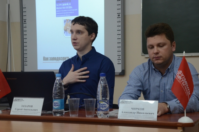 Заведующие реанимационными отделениями областной больницы Сергей Захаров (слева) и Александр Чирков (справа).