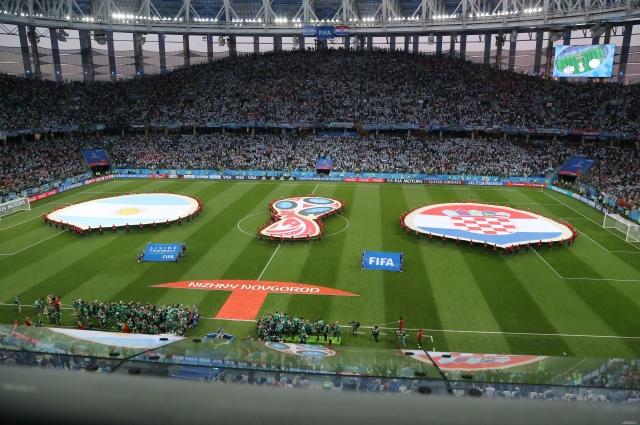 Рекордное количество болельщиков на стадионе «Нижний Новгород».