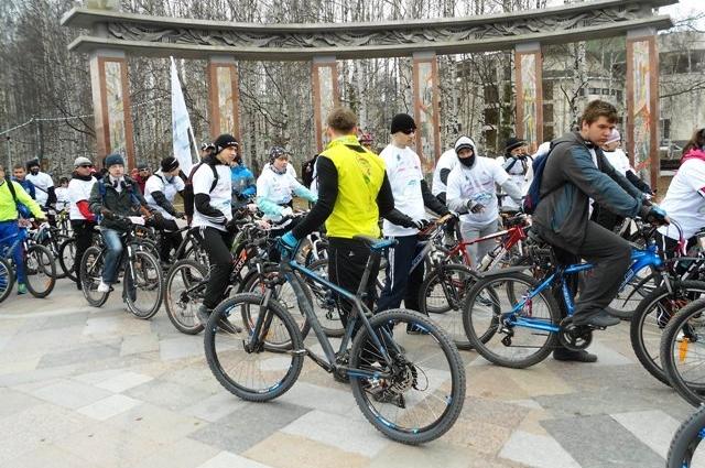 Велопробег в Ханты-Мансийске
