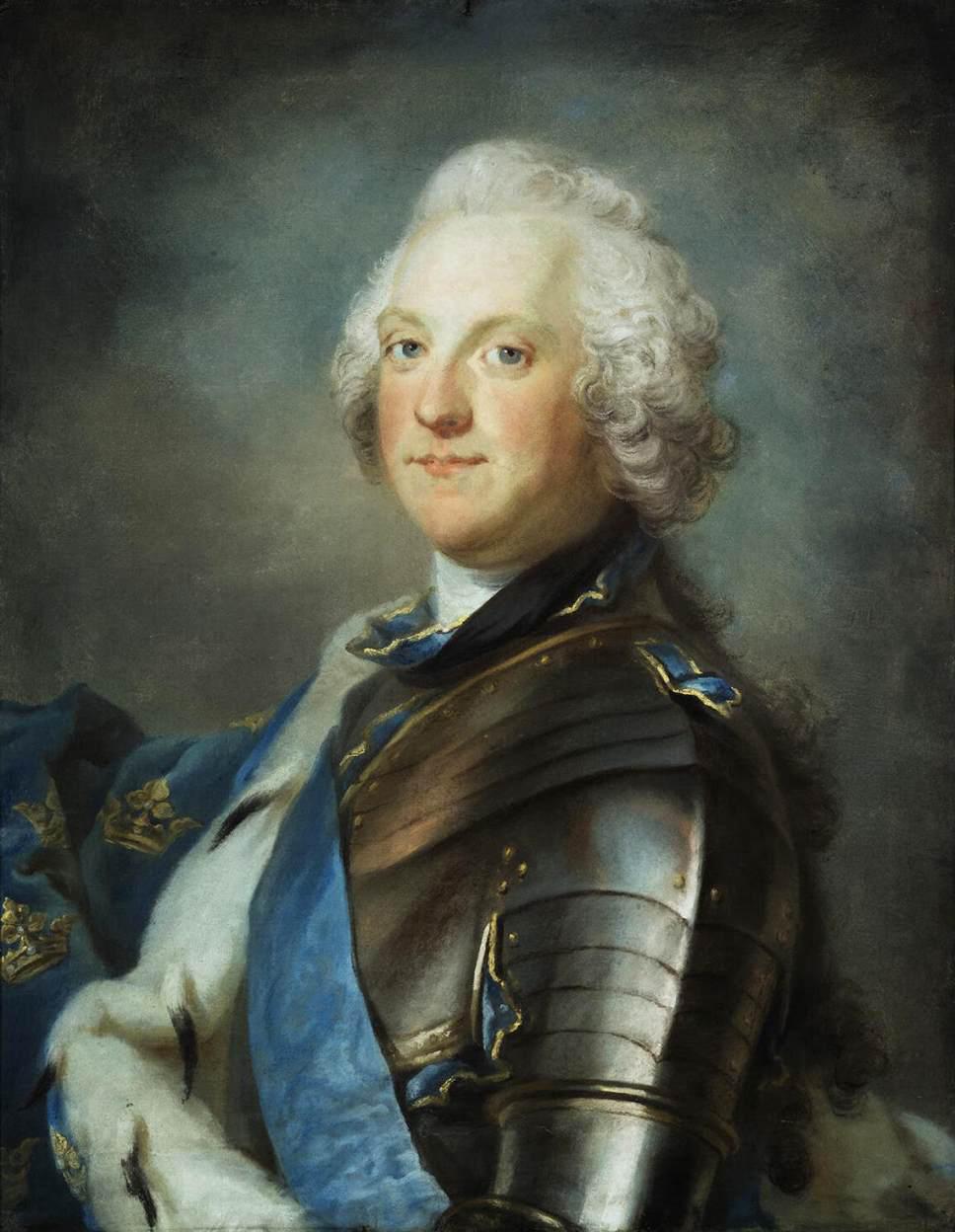 Портрет Адольфа Фредерика, Густаф Лундберг.